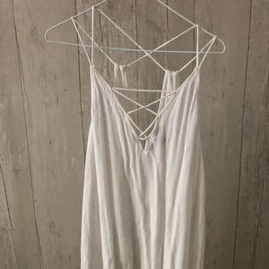 F21 large white cloth dress